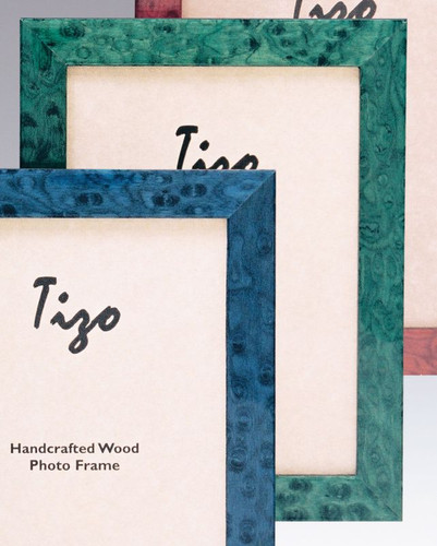 Tizo Bella 5 x 7 Inch Wood Picture Frame - Green