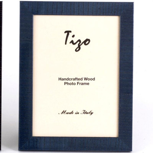 Tizo Lines 5 x 7 Inch Wood Picture Frame - Blue