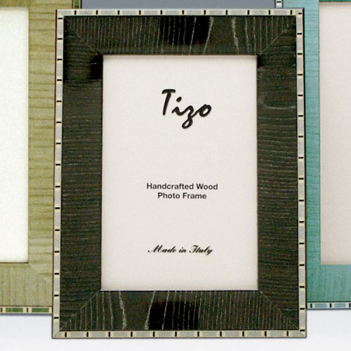 Tizo Marble 5 x 7 Inch Wood Picture Frame - Black