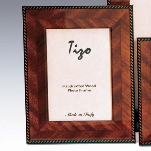 Tizo Bonita 3 x 3 Inch Square Wood Picture Frame