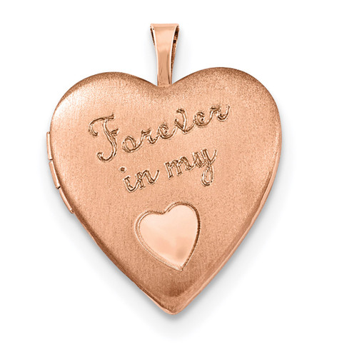 20mm Forever in my Heart Locket Sterling Silver Rose Gold-plated QLS743