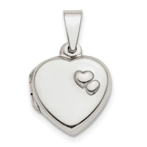 13mm Heart Locket Sterling Silver Polished QLS776