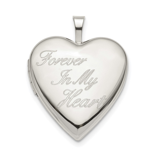 20mm FOREVER IN MY HEART Heart Locket Sterling Silver QLS805