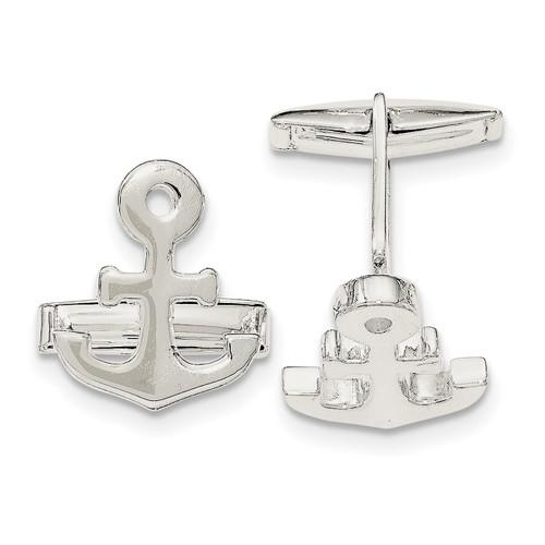 Anchor Cufflinks Sterling Silver QQ561