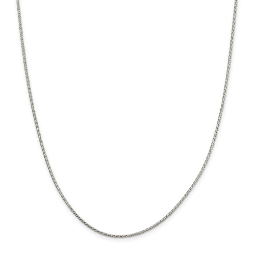 24 Inch 1.70mm Diamond-cut Round Spiga Chain Sterling Silver QSR050-24