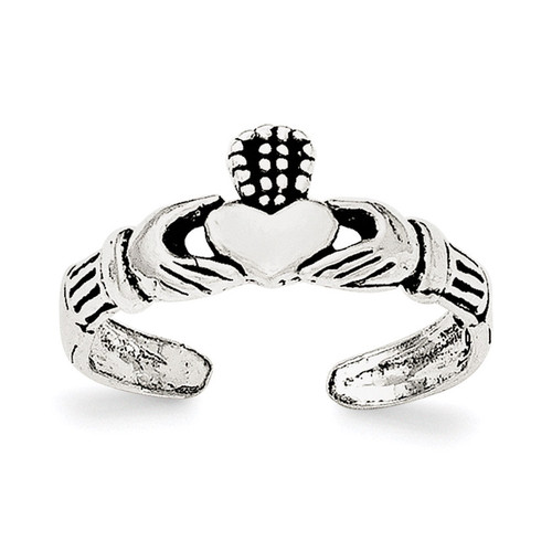 Claddagh Toe Ring Sterling Silver QR6039