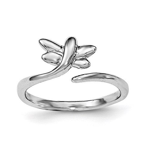 Dragonfly Toe Ring Sterling Silver Rhodium-plated QR6051