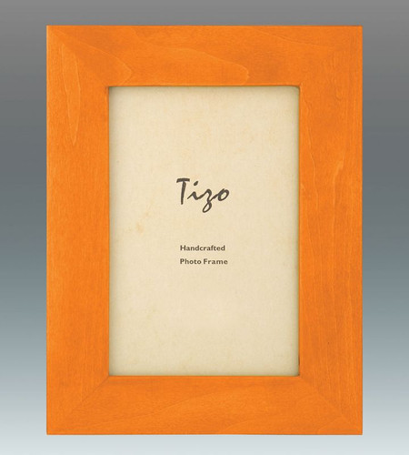 Tizo Antique Colors 4 x 6 Inch Wood Picture Frame - Orange