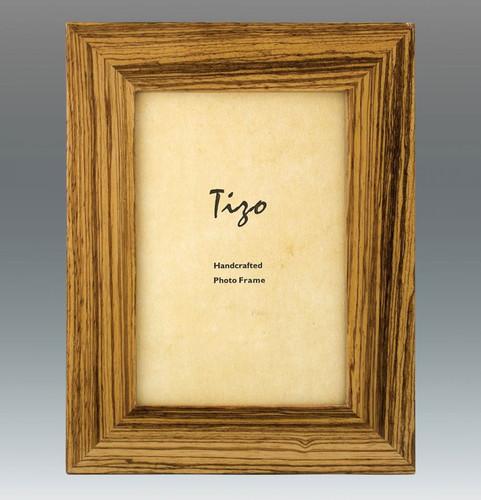 Tizo Rustic Zebra 4 x 6 Inch Wood Picture Frame - Cream