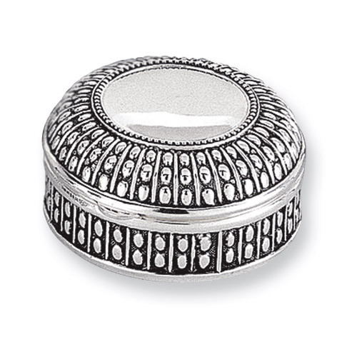 Antiqued Silver-plated Small Round Dot Jewelry Box GL1622