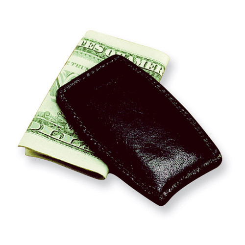 Black Leather Money Clip GL8799