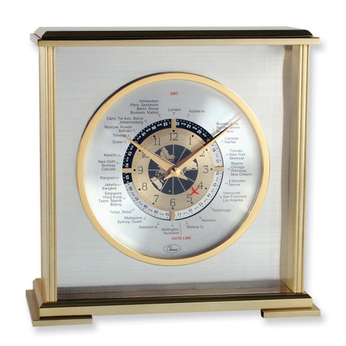 Aviator World Time Clock with engraving plate GM1272