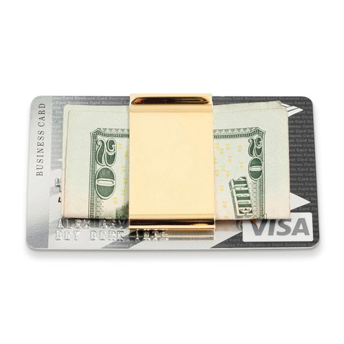 Gold-plated Twin Slot Money Clip GM13284