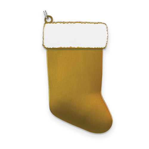 Gold Engravable Stocking Ornament Pewter GM13827