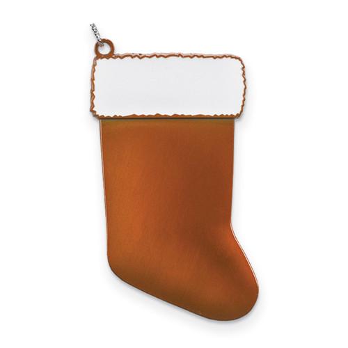 Orange Engravable Stocking Ornament Pewter GM13829