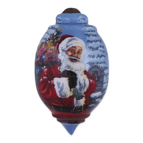Ne'Qwa Dona Gelsinger Santa's Magic Bag Ornament GM13905