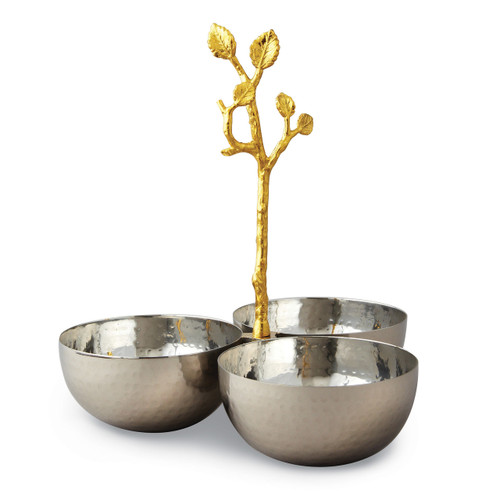 Golden Vine Hammered Triple Bowl Stainless Steel GM14120