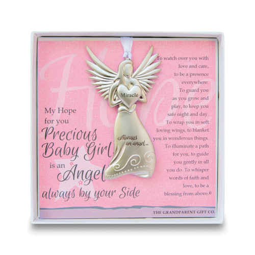 Baby Girl Angel Ornament with Sentiment GM14276