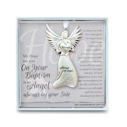 Baptism Angel Ornament with Sentiment GM14279