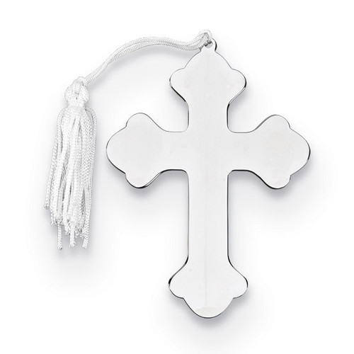 Nickel-plated Cross Ornament with White Tassel GM14649