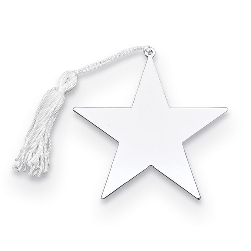 Nickel-plated Star Ornament with White Tassel GM14651
