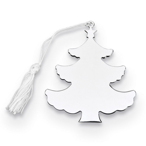 Nickel-plated Tree Ornament with White Tassel GM14652