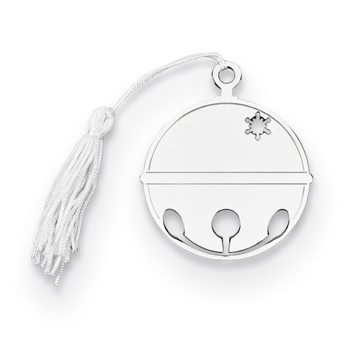 Nickel-plated Ball Ornament with White Tassel GM14653