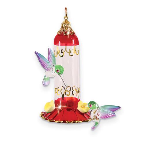Hummingbird Feeder Ornament Glass Baron GM15148