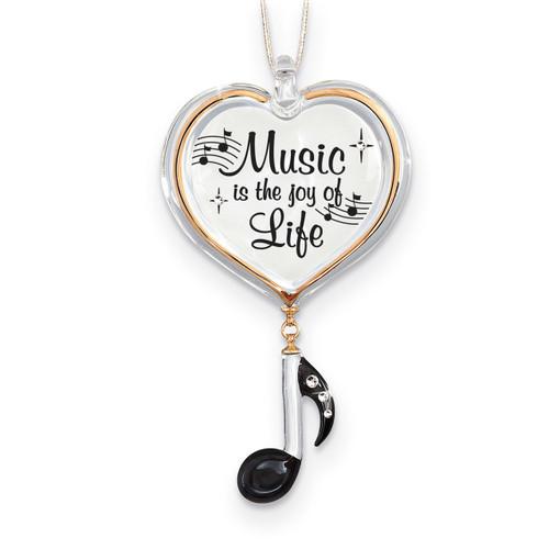 Music Joy of Life Ornament Glass Baron GM15149