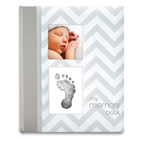 Grey Chevron Baby Book GM15710