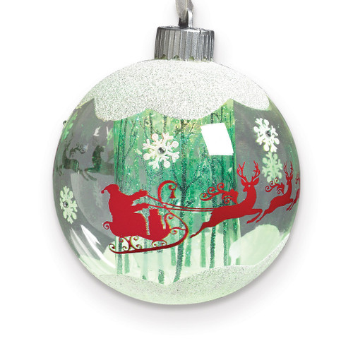 LED Santa In Sleigh Ornament GM15775