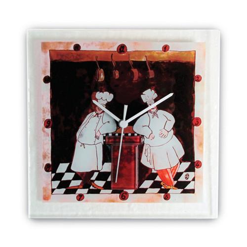 Chef Artisan Glass Wall Clock GM16191