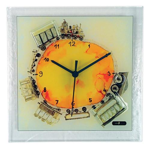 Train Artisan Glass Wall Clock GM16194