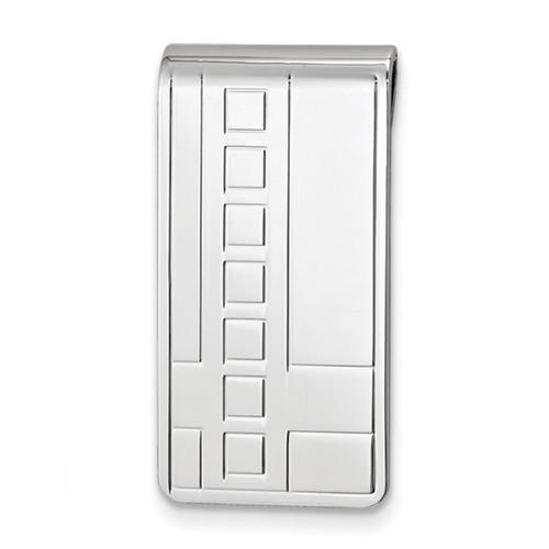 Deco Pattern Money Clip Silver-tone GM16797