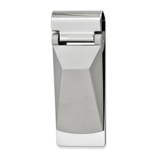 Angled Top Hinged Money Clip Silver-tone GM16848