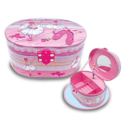 Ballerina Beauties Oval Musical Jewelry Box GM17119