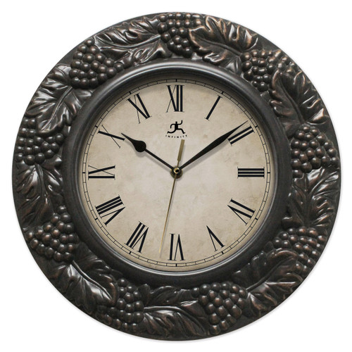 Naples Grape Design Wall Clock with Silent Movement GM17591
