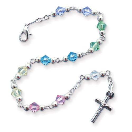 Multi-color Bead Rosary Bracelet GM17992