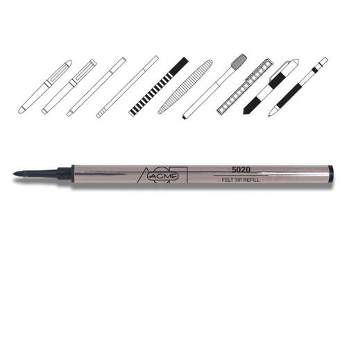Acme 5020 Black Felt Tip (M) Refill Medium