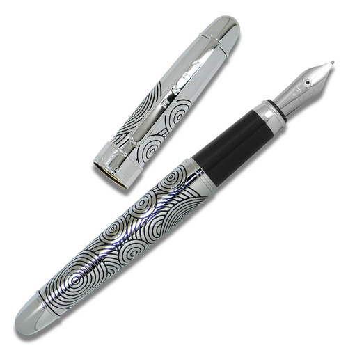 Acme Circles Etched Fountain Pen