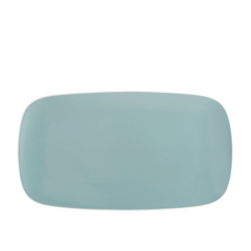 Nambe Pop Soft Rectangular Platter Ocean 16 Inch L x 9 Inch W x 0.75 Inch H