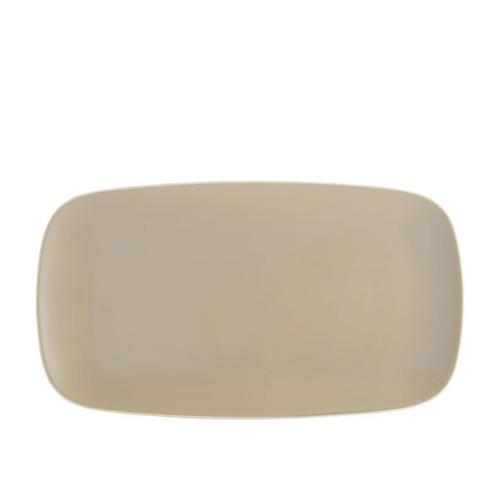 Nambe Pop Soft Rectangular Platter Sand 16 Inch L x 9 Inch W x 0.75 Inch H
