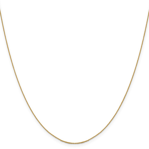.85 mm Diamond-cut Cable Chain 16 Inch 14k Gold 1251-16