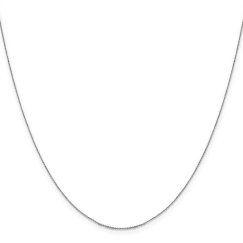 .85 mm Diamond-cut Cable Chain 18 Inch 14K White Gold 1252-18