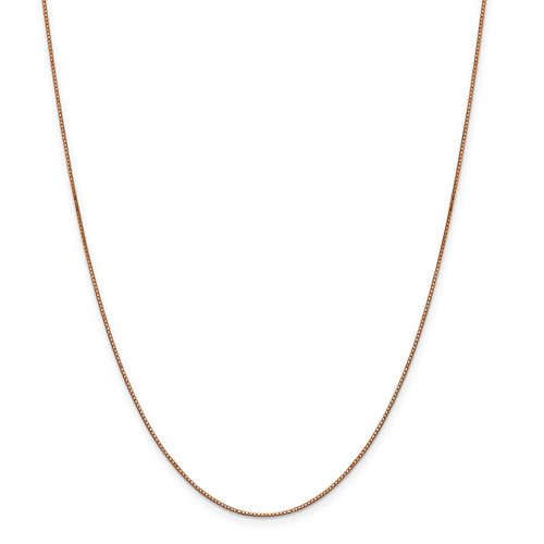 .8 mm Box with Lobster Chain 18 Inch 14k Rose Gold  7160-18