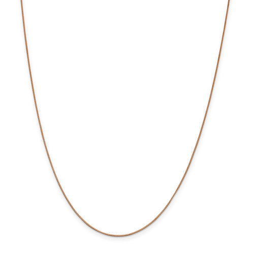 .7 mm Box with Lobster Chain 16 Inch 14k Rose Gold  7168-16