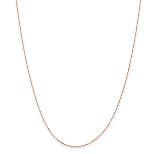 .5 mm Baby Box Chain 16 Inch 14k Rose Gold  7169-16