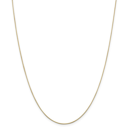 .8 mm Diamond-cut Octagonal Snake Chain 16 Inch 14k Gold 7183-16