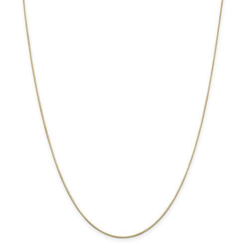 .8 mm Diamond-cut Octagonal Snake Chain 18 Inch 14k Gold 7183-18