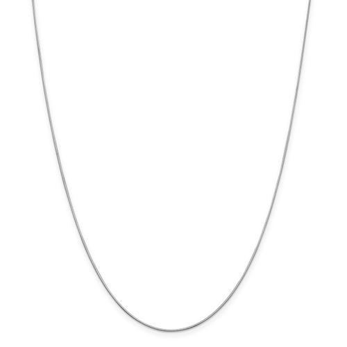 .8 mm Diamond-cut Octagonal Snake Chain 20 Inch 14K White Gold 7184-20